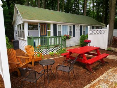 Photo for Cottage 11 (2-6 People) Family Cabin w/Kids Loft, FREE BIKES, KAYAKS, FIREWOOD, & WIFI - 5 Mi...