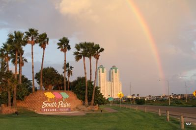 Rainbow over South Padre Island