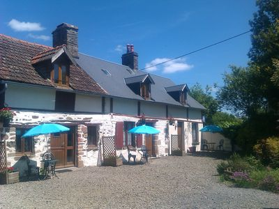 Photo for Gite for 2, Pool, Normandy/Brittany borders, Nr Avranches, Bay of Mont St Michel