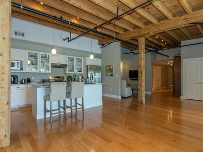 Photo for Urban loft in heart of downtown Camden--high ceilings, exposed beams, open flow