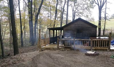 Photo for Near Caves; Hot Tub; WiFi; Deck, Grill, Fire Pit, Pets OK, Wooded, Satellite TV