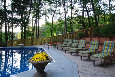 Imagine yourself lounging in this PRIVATE outdoor space with friends & family.