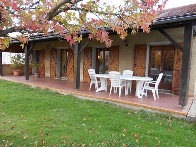 Photo for Country cottage at the foot of the Pyrenees with swimming pool