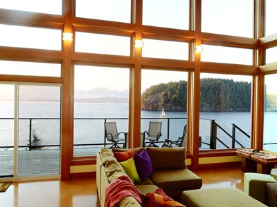 Photo for Waterfront~ Private Platinum Green Home~Beach Access~Island & Mtn. Views~Sunny
