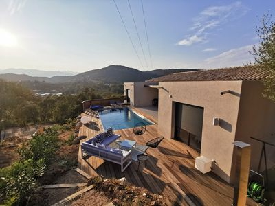Photo for New Villa, 4 Bedrooms, Pool, Nice view of the gulf of Porto-Vecchio
