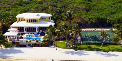 Wataview beachfront property with private tennis court