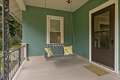 Relax on our front porch swing.
