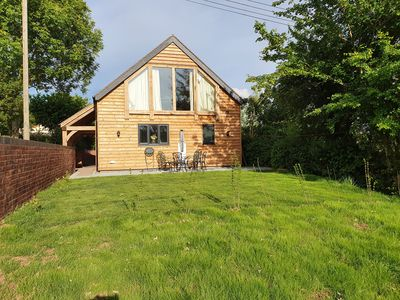 Photo for Lovely rural cottage near Ludlow. Brand new with feature oak and glass gable.