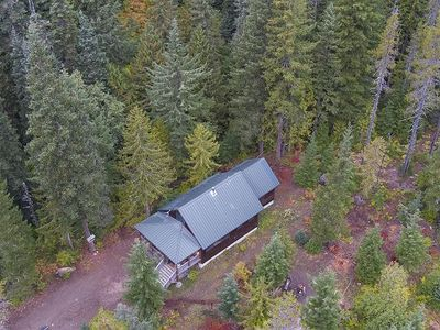Photo for Secluded creekside cabin near biking, hiking, paddling, BBQ, dog friendly