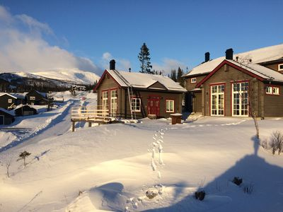 Photo for Åre Sadeln, new logghouse with stunning viewes over the lake and mountains.