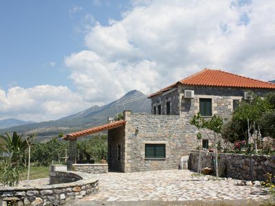 Photo for Dreamlike located, idyllic directly at the sea: holiday house, wifi in Messenia,