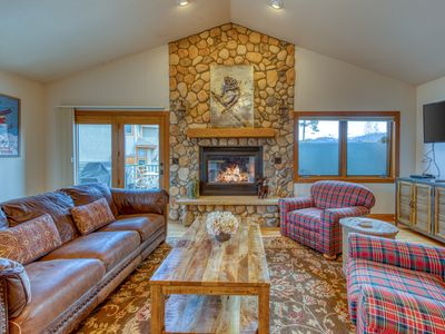 Photo for Stunning townhome w/ a private hot tub & a Rocky Mountain view
