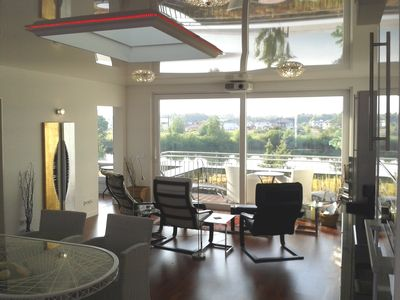 "Photo for Penthouse apartment in ""Houseboot style"" at the marina in Werder / Havel near Berlin"