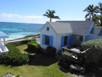 Photo for Cozy Ocean-Side Cottage in Historic Hope Town Settlement
