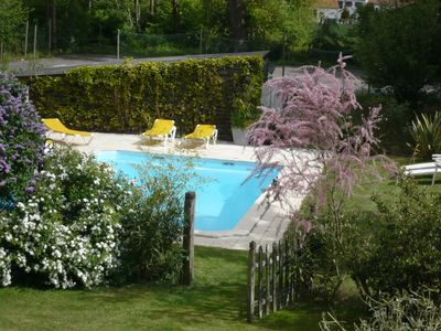 Photo for Cottage close to beaches.  Swimming pool, tennis court,