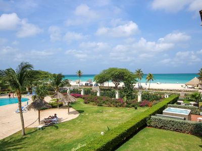 Photo for BEACHFRONT - EAGLE BEACH - OCEANIA RESORT - Royal Aquamarine 3BR condo - BC252
