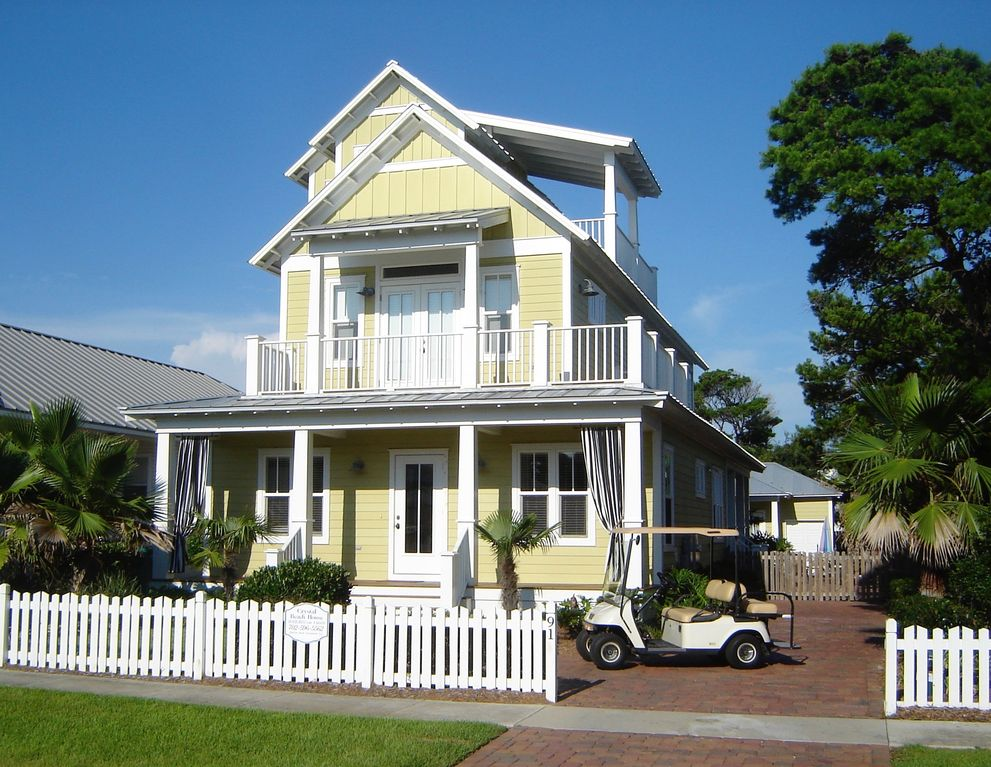Crystal Beach House Award Winning Pool Spa Golf Cart Concierge Include