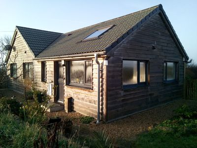 Photo for Eco-build, light filled, oak clad annex, with parking and private gardens