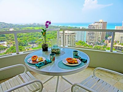 While having your morning coffee - enjoy the views from the lanai