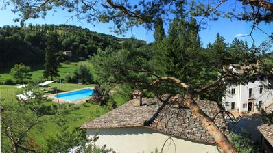 Photo for Country house with large pool & private restaurant in the green heart of Italy