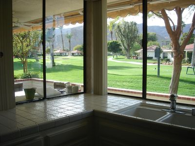 Mountain and Golf course view from Kitchen
