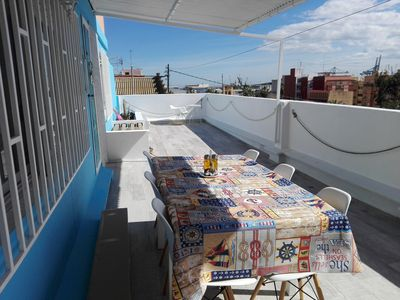 Photo for Flat with 40 meters terrace next to the port & Oceanografico