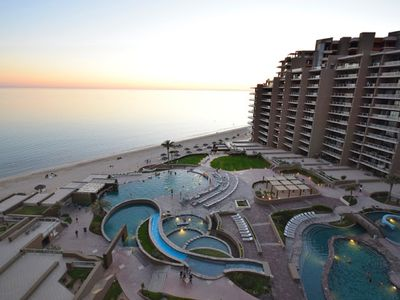 Photo for Phase 1, Oceanfront Condo, Both Bedrooms Face the Pools, Beach