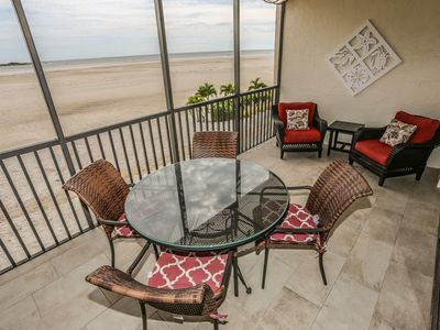 Photo for Gorgeous remodeled beach front condo at the south end of Ft. Myers Beach