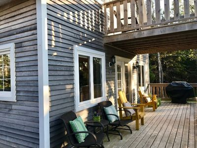 Front deck with view of ocean.