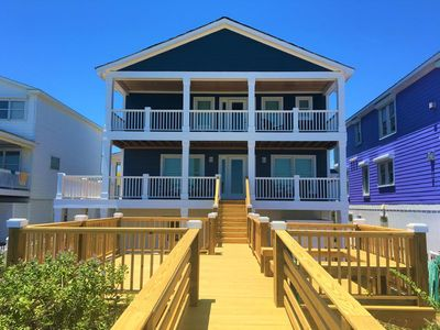 Photo for Ideal for families; Spacious oceanfront beach house just a half mile from the Kure Beach Fishing Pier!