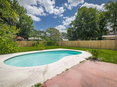 Photo for Cute Home w/ King & Queen Beds. Private Pool. Minutes from downtown