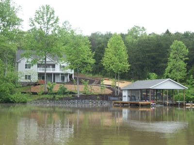 Photo for Family Friendly, Lakefront Home. Game Room, HD TV,  Hot Tub, Dock