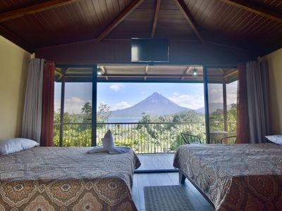 Photo for Paradise Bungalow with Volcano & Lake view. A/C and Free WiFi.