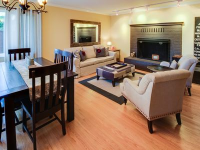 Photo for Dog-friendly home with a deck, patios & hot tub, in the heart of wine country!