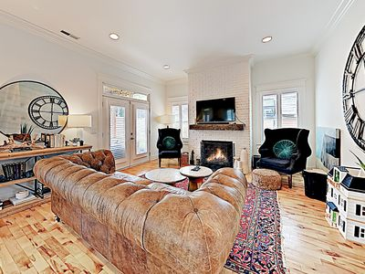Living Room - Enjoy the warm ambience of the gas fireplace in the living room.