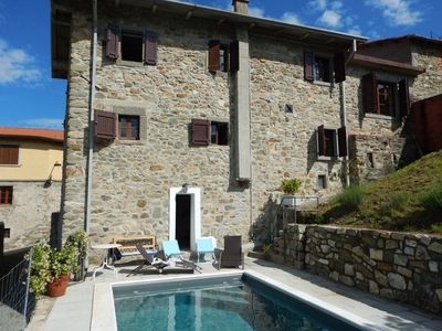 Photo for Tuscany, authentic house natural stones - private pool - 4 person