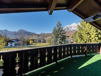 Photo for Attic in typical style with panoramic views of the Dolomites