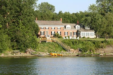 Turner Farmhouse has magnificent views of Lake Champlain and the Adirondacks.