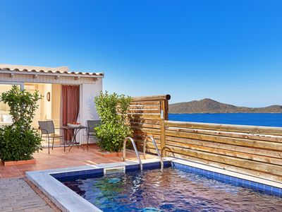 Photo for Seaview Suite with private pool in Elounda