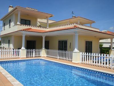 Photo for Luxury villa, private pool, quiet location, view over golf course and ocean