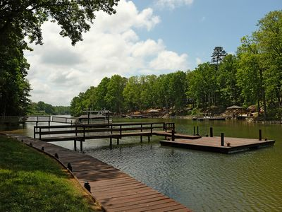 Photo for Charming Lakefront Cottage, Kayaks/Paddle Board, Quiet Cove and Fire Pit