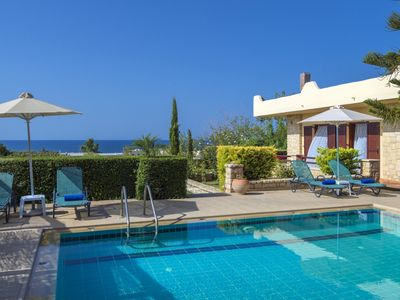 Photo for Villa Eleni - Stunning Traditional Villa with A/C and Private Pool at only 400 m from the Beach! - Free WiFi