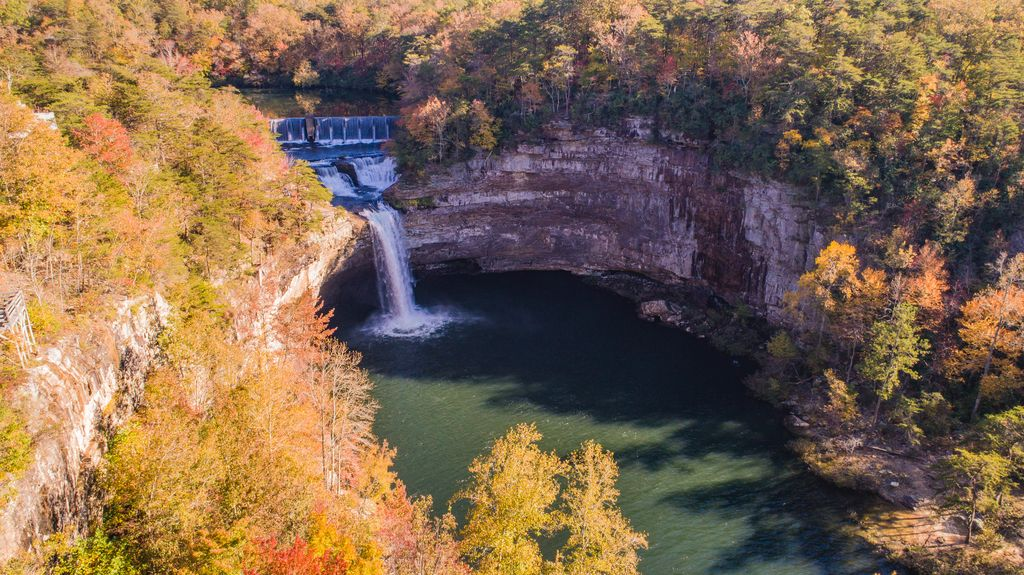 """""""Cliff House"""" Overlooking Desoto Falls On Lookout Mountain"""