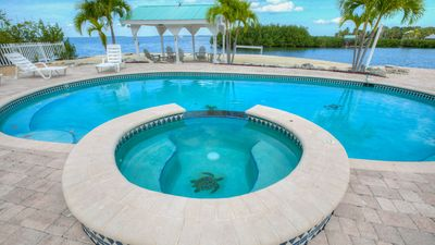 Photo for Stunning Bay View, Pool, Deep Water Dock