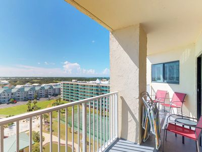 Photo for NEW LISTING! Modern condo w/Gulf view, shared pool, hot tub-walk to the beach