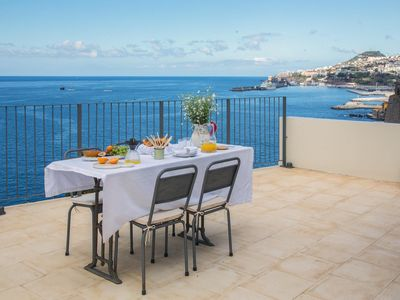Photo for Fantastic Ocean Front Villa overlooking Funchal Port located in the Old Town.