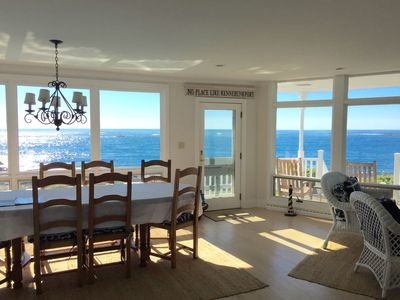 Floor to ceiling windows offer amazing views of the ocean from every room