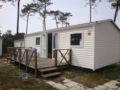 Photo for Mobile home with 3 bedrooms and pool with water slide