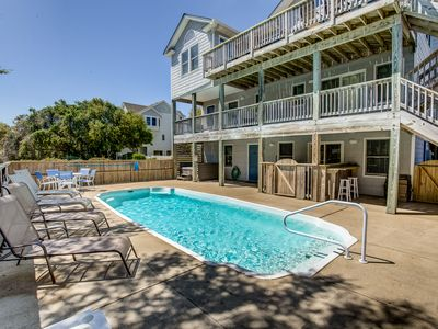 Photo for Back to Duck | 530 ft from the beach | Private Pool, Hot Tub