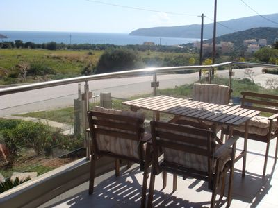 Photo for Sandra`s sea view at Sounio. Only 6 minutes drive to the Temple of Poseidon.
